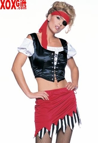Womens Pirate, Pirates Wench Costume LA 8982