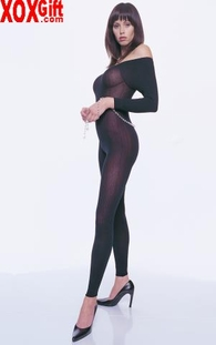 Opaque Footless Crotchless Bodystocking LA 8685