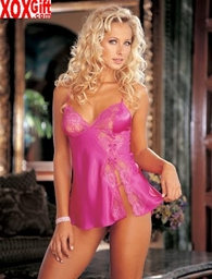 Silky Lace Baby Doll 20016
