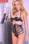 Leather Waist Cincher With Zip Up Front. EM L4225