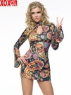 Womens Retro Go-Go Dress Costume LA 83044