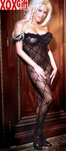 Womens Open Crotch Bow Lace Bodystocking EM 1607