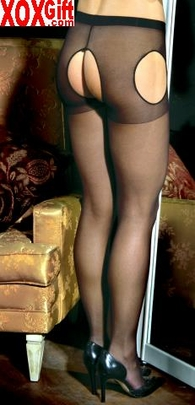 Womens Sheer Suspender Pantyhose EM 1712