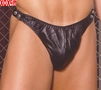 Leather thong With side snaps EM L9139X