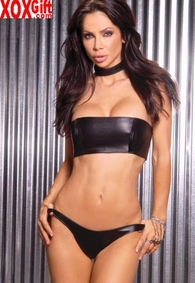 Leather bandeau top With boning, shown With L9202 & L9172 EM L4102
