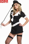 Plus Size Gangster Moll Dress Costume LA 83079X