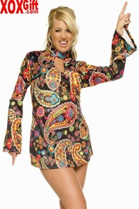 Plus Size Womens Retro Go-Go Dress Costume LA 83044X