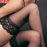 Stay Up Lycra Sheer Thigh High With Silicone Lace Top LA 1022