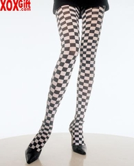 Checkerboard Pantyhose LA 7127