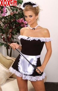 Plus Size Womens French Maid Costume EM 9395X