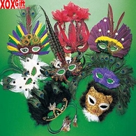 Deluxe Feather Party Mask OT25-635