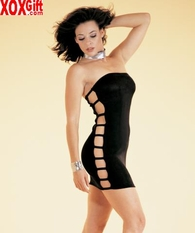 Slinky Tube Dress With Open Sides LA 8260