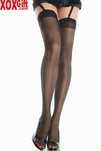 Sheer Thigh High Stockings With Rhinestone Top LA 1908