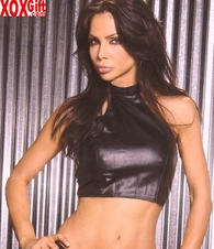 Leather halter top With zipper side, shown With L9180 & L9170 EM L4106