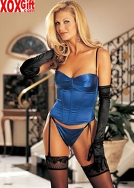 Lightly Padded Satin Strap/Strapless Bustier 9379