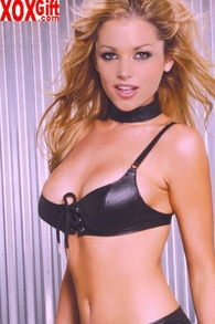 Black Leather Bra With Lace-Up Front Detail EM L5667