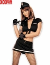 Risque Police Woman 5 Pc Sexy Fantasy Costume Set  R 6834