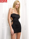 Slinky Tube Dress With Cut Out Back LA 8549