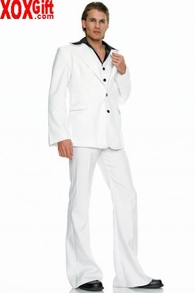 Men's Saturday Night Fever Style Disco King Costume LA 83239