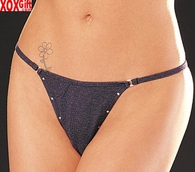 Denim Thong Panty With Studs  163S