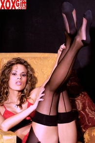 Women's Thigh High Stockings With Cuban Foot EM 1743