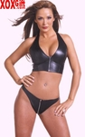 Leather Bustier With Zipper AL 5-113