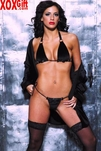 Black Leather & Velour Bikini AL 12-225