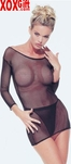 Long Sleeved Fishnet Dress With G-String  LA 8290