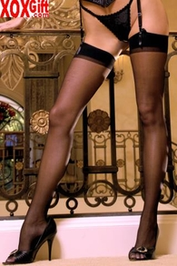 Plus Size Womens Sheer Thigh Highs EM 1725Q