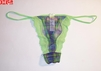 Womens Green Plaid Thong In Size Large 53GRE