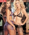 Metallic Fringe Bra, Skirt & G-String Set 7224