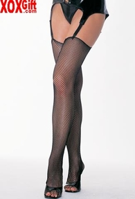 Fishnet Thigh High Stockings With Trashy Look Tops! LA 9020