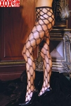 Womens Seamless Diamond Lace Pantyhose EM 1737