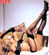 Black Sheer Thigh High Stockings R 0024