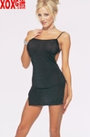 Very Popular!  Slinky Mini Dress With Side Slits EM 8516