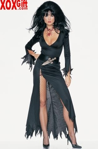2 Pc Haunted House Mistress Outfit LA 8859