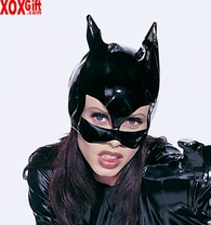 Sexy Adult Fantasy Costume Accessory! Black Vinyl Catwoman Pussy Cat Mask  LA V1013