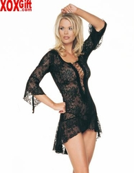 Spanish Lace Mini Dress With G-String LA 8050