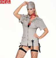 Pin-Up Army Girl Lingerie Uniform Fantasy Military Costume LA 8066