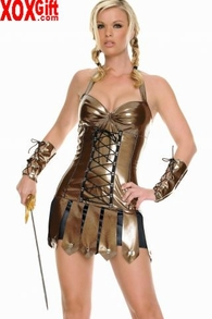 Vinyl Warrior Costume LA 83241