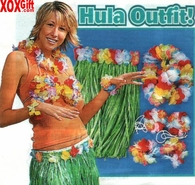 Adult Flowered Green Hula Deluxe 5 Pc Set OT34-323