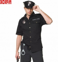 Men's Cop, Police Officer, Policeman Costume LA 83122