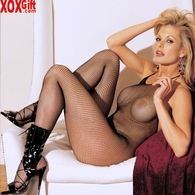 Fishnet Bodystocking With Tie Halter Neck In Erotic Crotchless Black! R 90025
