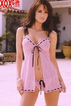 Plus Size open front baby doll & Panty 2 Pc Set EM 4508X