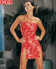 Beautiful Asian Brocade Dress  LA 8302