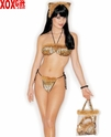 Womens Leopard Costume Bikini Set In A Bag  R 6927
