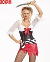 Womens Bucaneer Pirate Wench Costume LA 83081