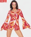 Austin Powers Retro Mini Dress! Psychedelic Retro Groovy Minidress LA 8955