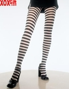 Plus Size Nylon Stripe Tights LA 7100Q