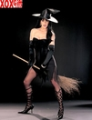 Strapless Witch Dress With Pointed Hat R-96848